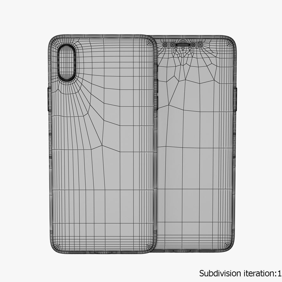 Apple iPhone X royalty-free 3d model - Preview no. 9