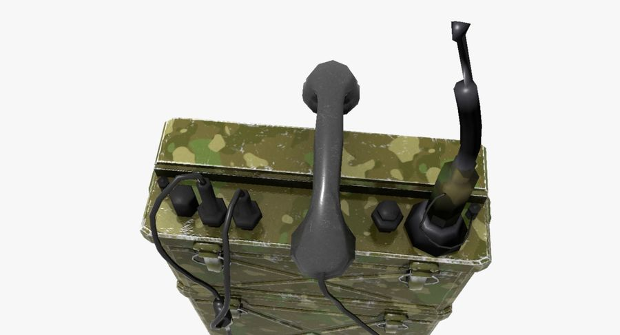 Military Radio Station royalty-free 3d model - Preview no. 10
