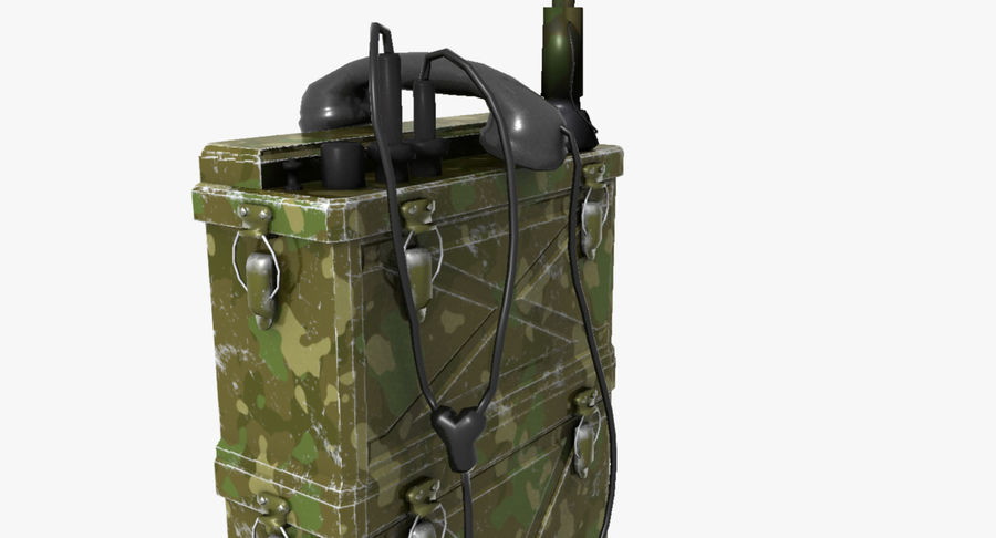 Military Radio Station royalty-free 3d model - Preview no. 8