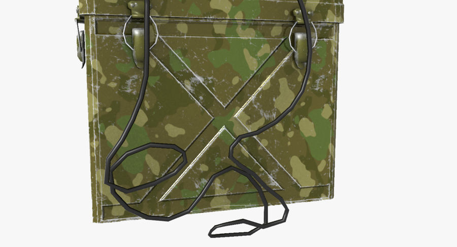 Military Radio Station royalty-free 3d model - Preview no. 9