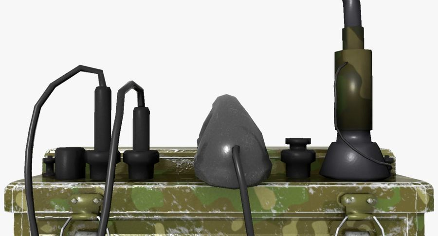 Military Radio Station royalty-free 3d model - Preview no. 7