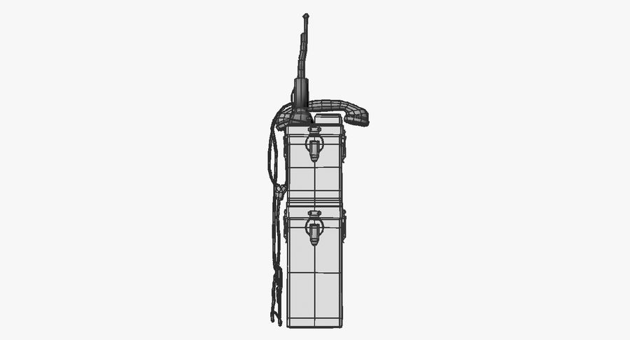 Military Radio Station royalty-free 3d model - Preview no. 15