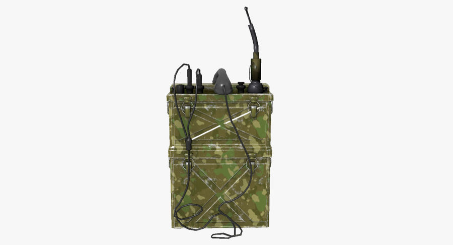 Military Radio Station royalty-free 3d model - Preview no. 2