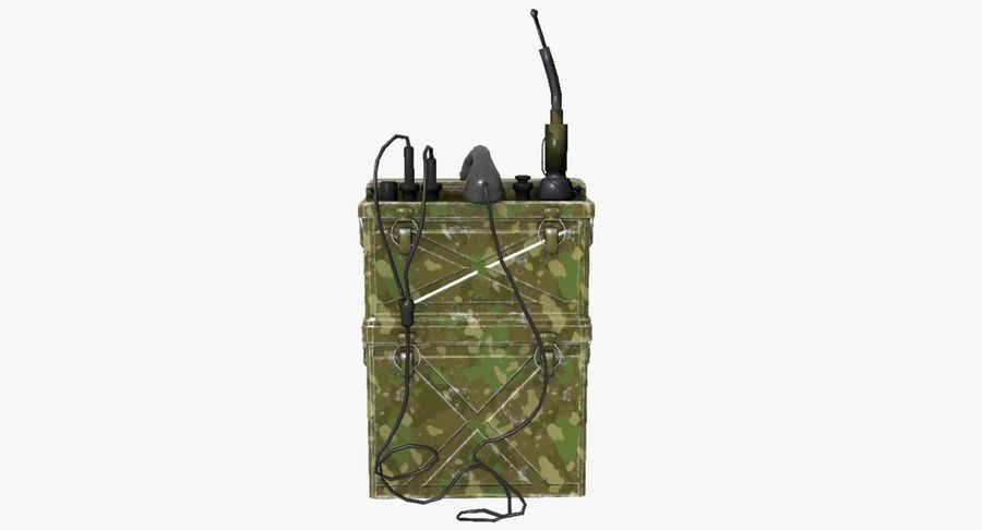 Military Radio Station royalty-free 3d model - Preview no. 3