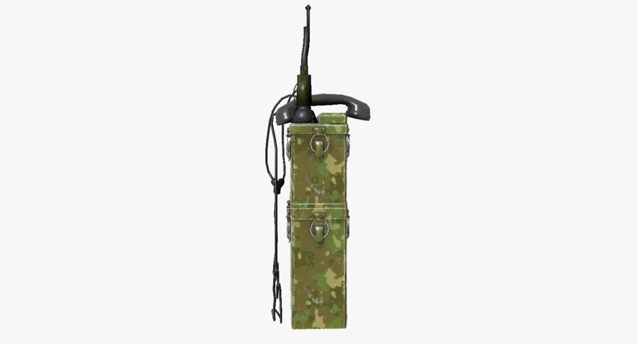 Military Radio Station royalty-free 3d model - Preview no. 11
