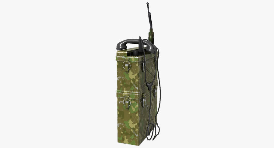Military Radio Station royalty-free 3d model - Preview no. 12