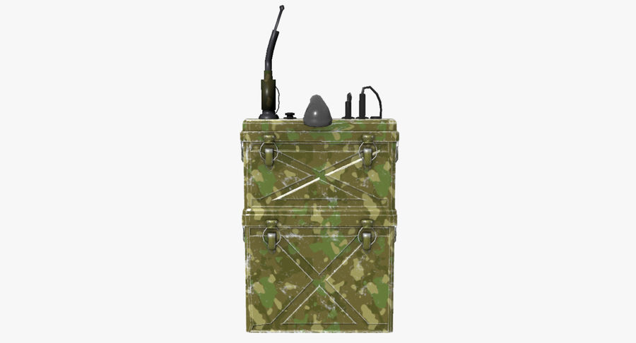 Military Radio Station royalty-free 3d model - Preview no. 4