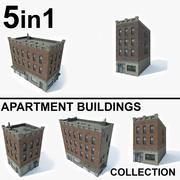 Kolekcja budynków mieszkalnych 5 w 1 3d model