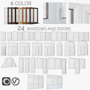 окна и двери из стеклопластика 3d model