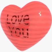 Corazón de dibujos animados modelo 3d