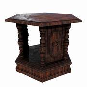 Oude houten nachtkastje 3d model