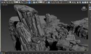 3D mountain 3D model bbc 3d model