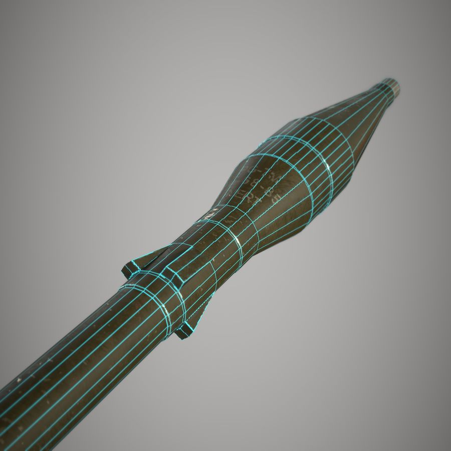 RPG 7 royalty-free 3d model - Preview no. 24