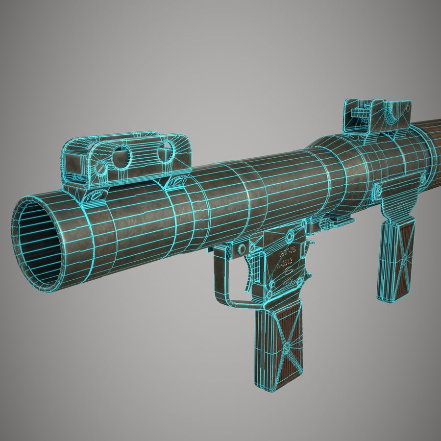 RPG 7 royalty-free 3d model - Preview no. 29