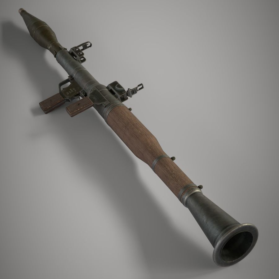 RPG 7 royalty-free 3d model - Preview no. 19