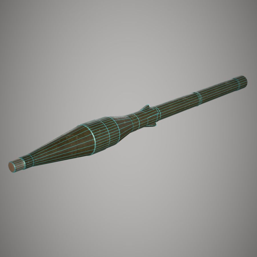 RPG 7 royalty-free 3d model - Preview no. 22