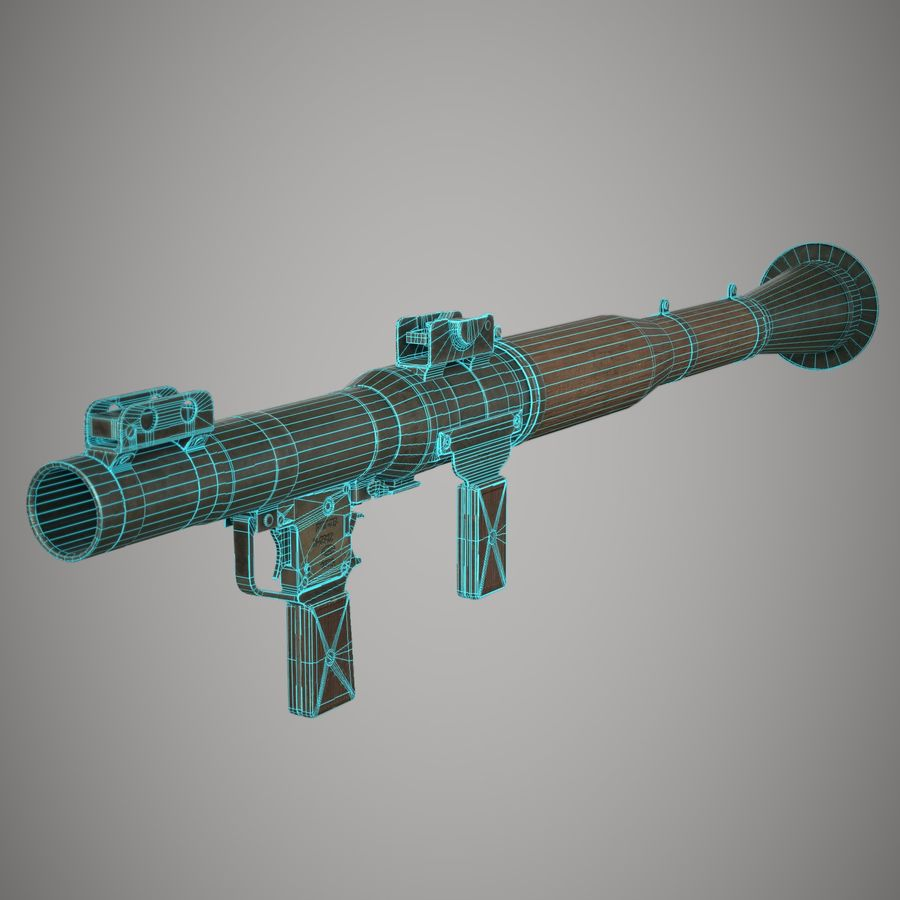 RPG 7 royalty-free 3d model - Preview no. 25