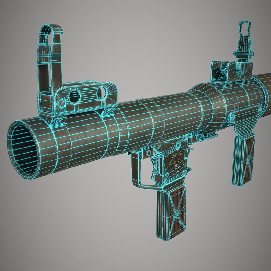RPG 7 royalty-free 3d model - Preview no. 30