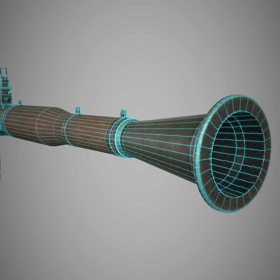 RPG 7 royalty-free 3d model - Preview no. 32