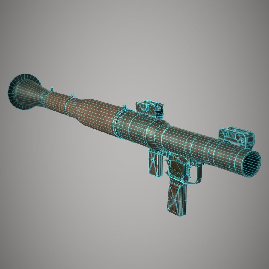 RPG 7 royalty-free 3d model - Preview no. 28