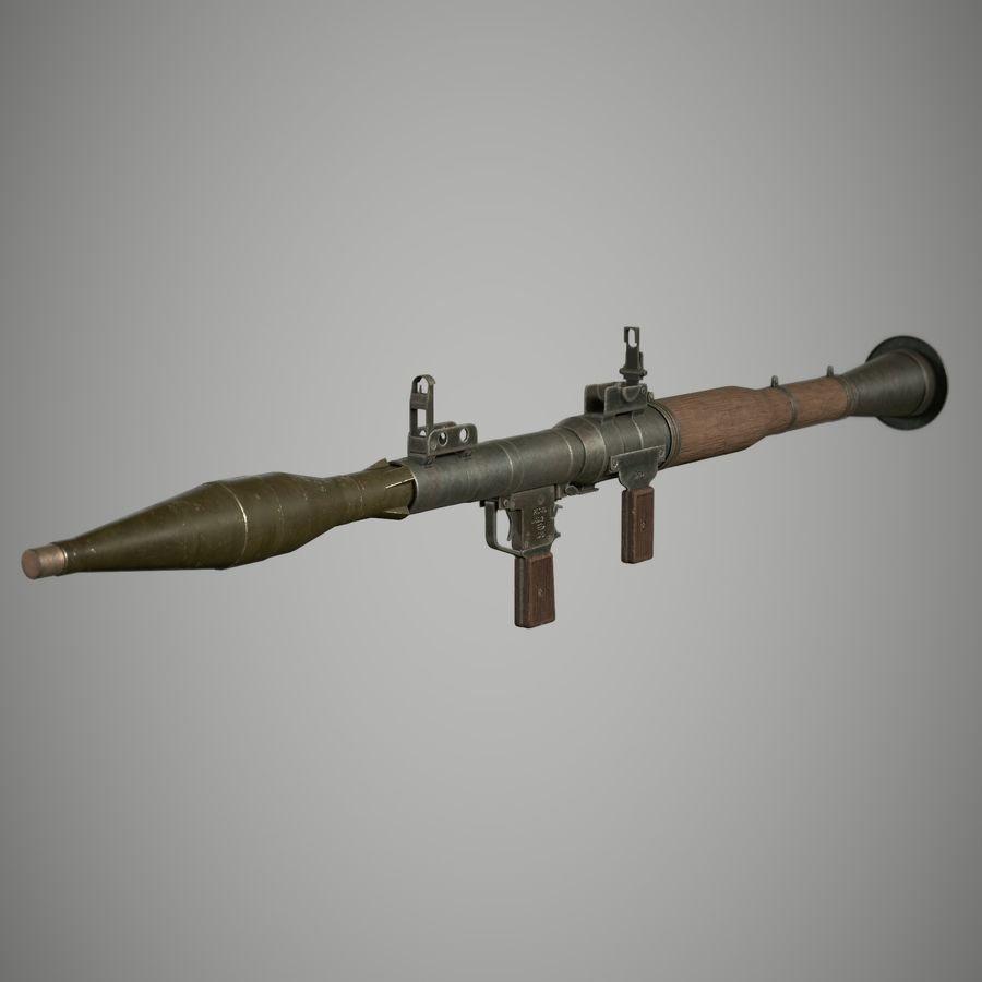 RPG 7 royalty-free 3d model - Preview no. 1