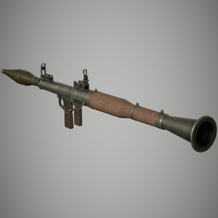 RPG 7 royalty-free 3d model - Preview no. 2