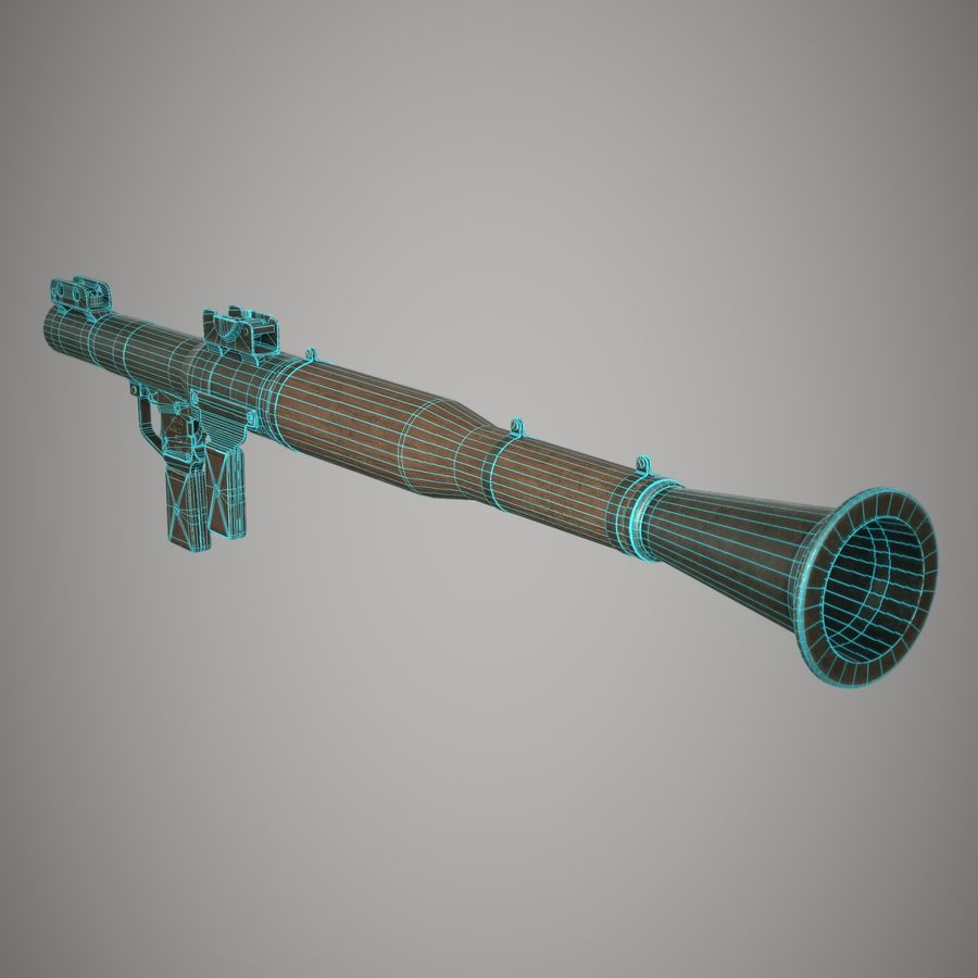 RPG 7 royalty-free 3d model - Preview no. 26
