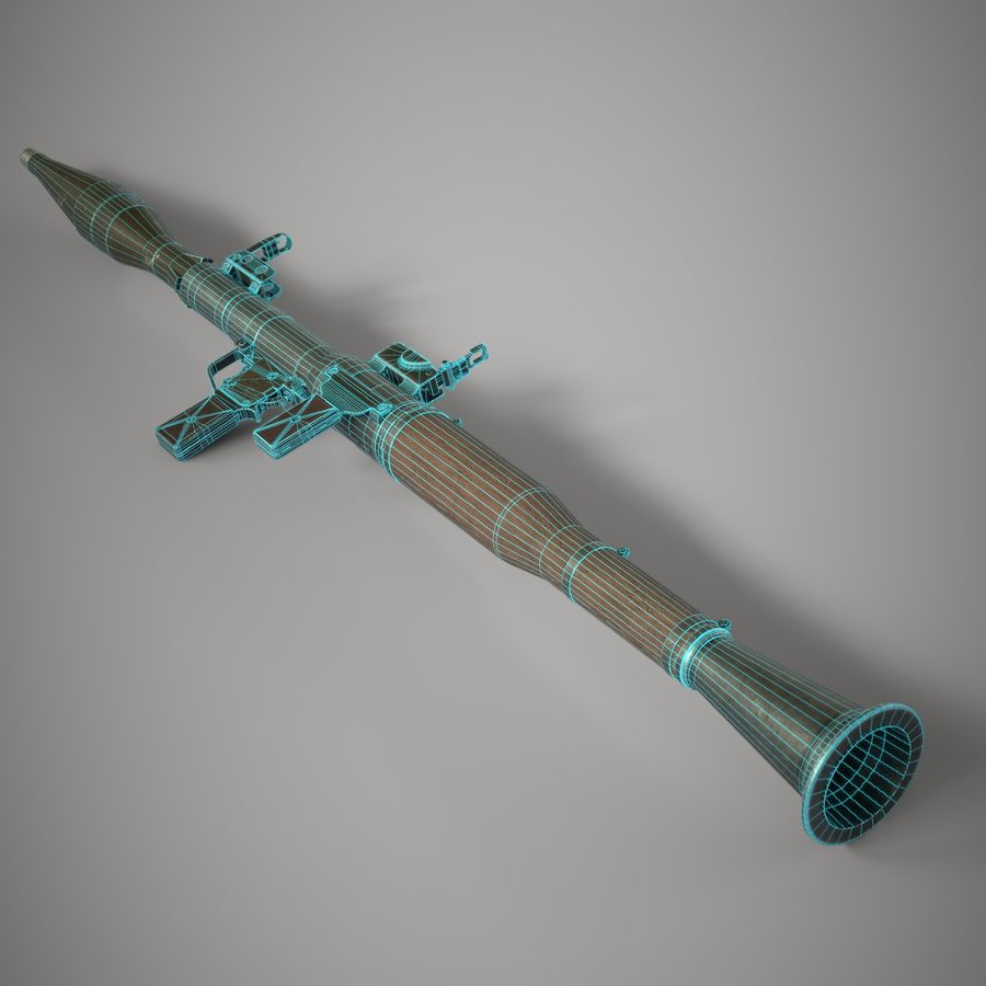 RPG 7 royalty-free 3d model - Preview no. 21