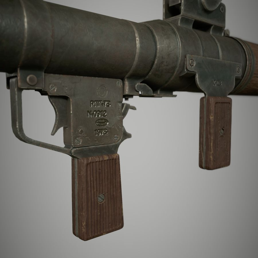 RPG 7 royalty-free 3d model - Preview no. 7