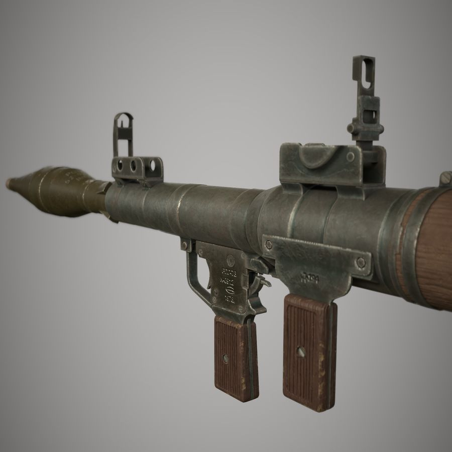 RPG 7 royalty-free 3d model - Preview no. 5