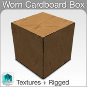 Worn Cardboard Box Rigged 3d model
