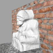 Estátua de marinheiro 3d model