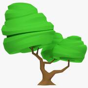 Stiliserat träd V1 3d model