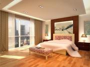 Lägenhet sovrum 3d model