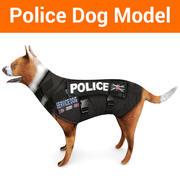 chien de berger allemand de la police 3d model