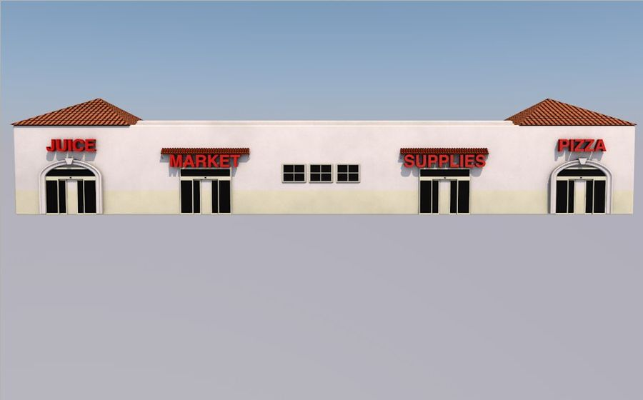 Store Front royalty-free 3d model - Preview no. 5