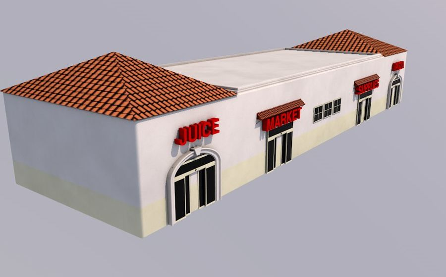 Store Front royalty-free 3d model - Preview no. 3