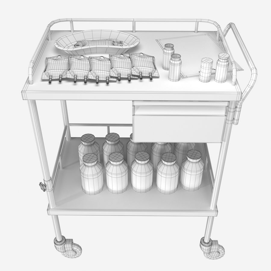 Medical Cart royalty-free 3d model - Preview no. 10