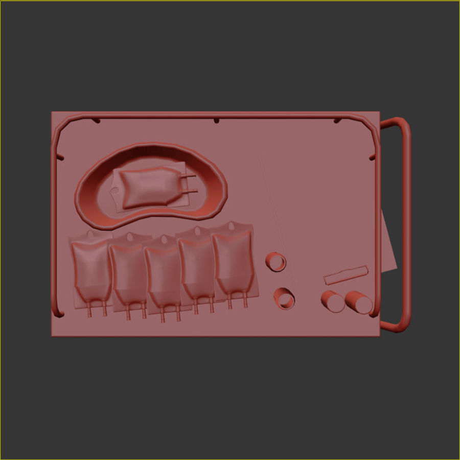 Medical Cart royalty-free 3d model - Preview no. 21