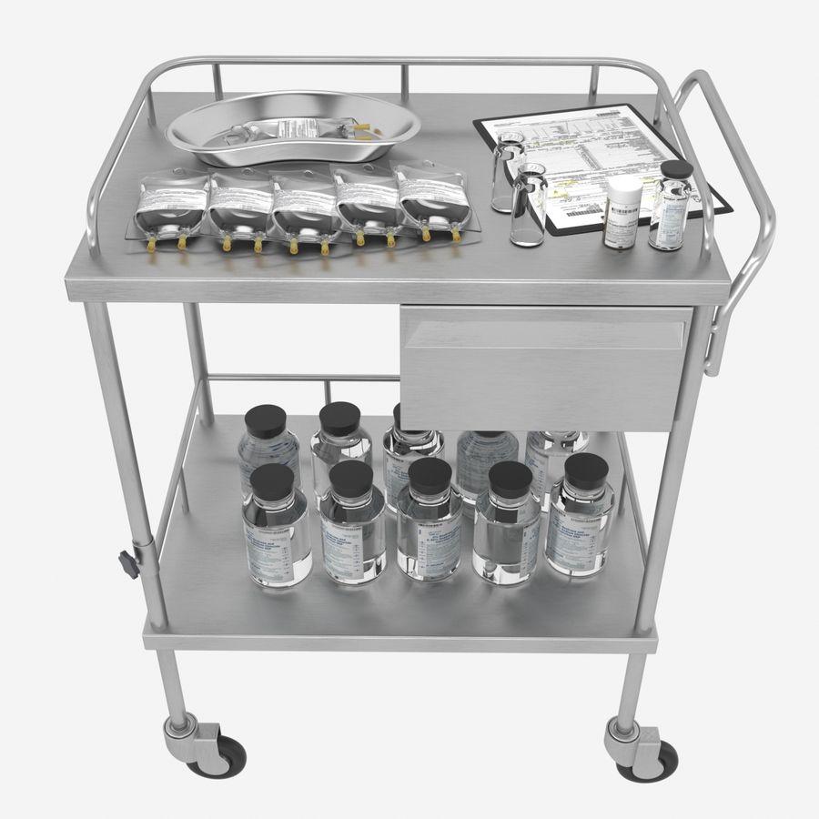 Medical Cart royalty-free 3d model - Preview no. 2