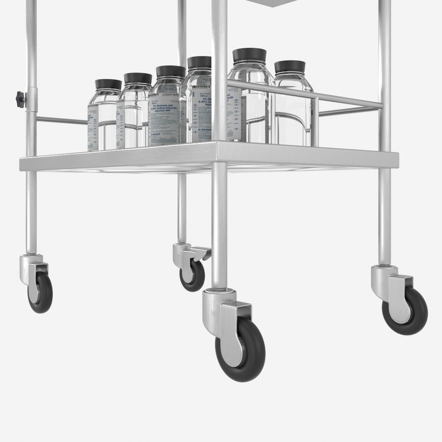 Medical Cart royalty-free 3d model - Preview no. 3