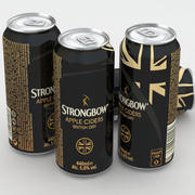 Strongbow British Dry Cider 440ml Can 3d model
