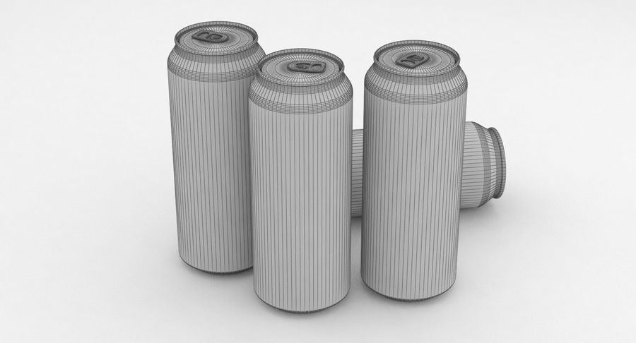 Beer Can Amstel 500ml royalty-free 3d model - Preview no. 8