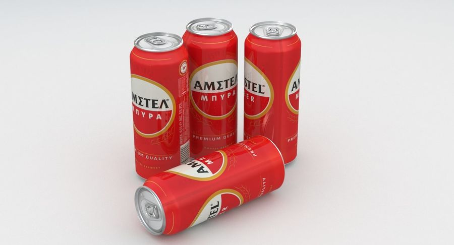 Beer Can Amstel 500ml royalty-free 3d model - Preview no. 7