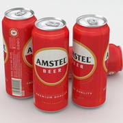 Beer Can Amstel 500ml 3d model