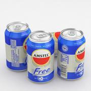 Beer Can Amstel Free 330ml 3d model
