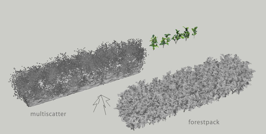 Sebes de arbustos exóticos royalty-free 3d model - Preview no. 7