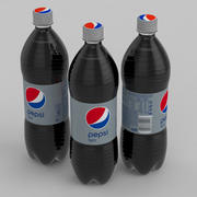 Beverage Bottle Pepsi Light 1L 3d model