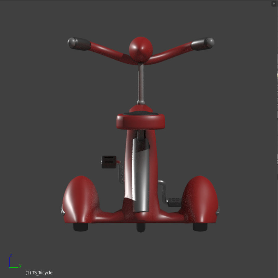 Retro Tricycle royalty-free 3d model - Preview no. 3