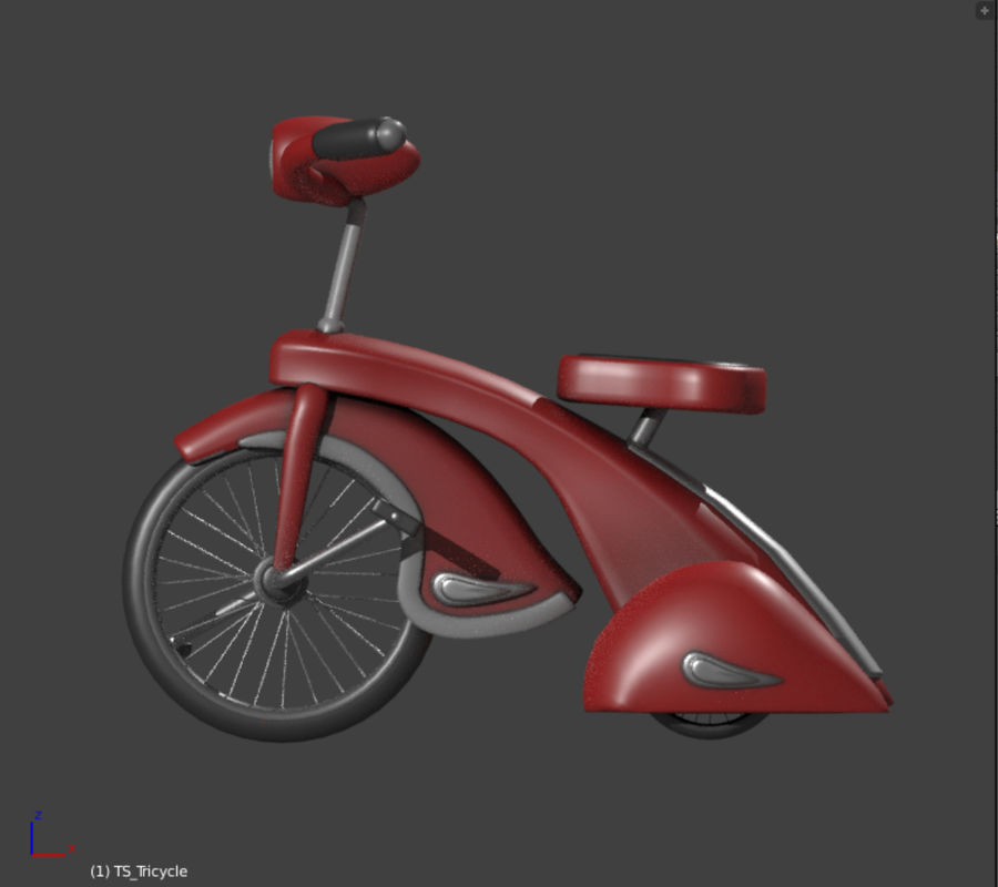 Retro Tricycle royalty-free 3d model - Preview no. 1
